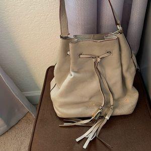 Light beige Kate Spade bucket purse